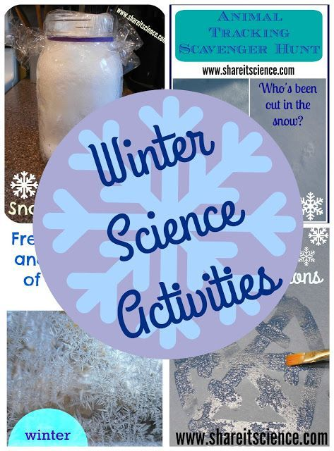 Share it! Science News : Winter Season Science Experiments and Activities