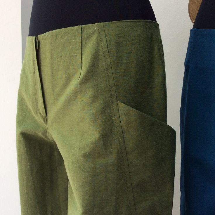 colorful zip culottes of a nice grosgrain quality fabric - Detail
