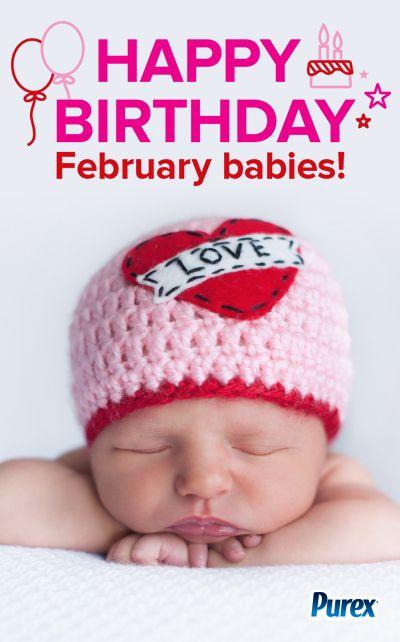 Happy Birthday February Babies Baby Milestones Baby