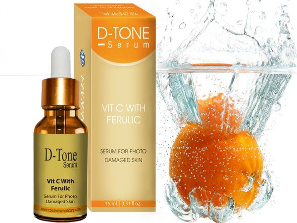 Checkout on Roposo.com - Cosderma Vitamin C  Ferulic serum Increase cell Renewal Radiance Glow fairnessFerulic   vitamin C Serum- Ferulic to strengthen skin's natural protection from free radicals induced by  environmental stressors such as UVA/UVB, infrared radiation (IRA), and   pollution, which may lead to visible signs of accelerated skin aging. In addition to antioxidant protective benefits, C E Ferulic improves signs of   aging and photodamage, the appearance of lines and wrinkles, and…