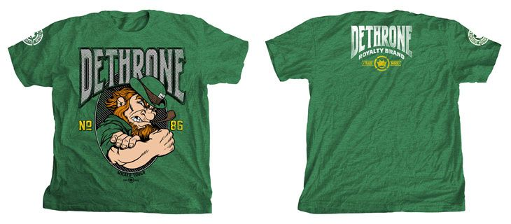 Dethrone Joe Lauzon UFC Fight Night 26 Walkout Shirt Preview - Green at http://www.fighterstyle.com/dethrone-joe-lauzon-ufc-fight-night-26-walkout-shirt-preview/