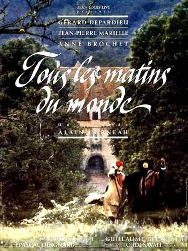 (film complet) Marielle en Sainte-Colombe et Depardieu en Marin Marais sont les interprètes de cette somptueuse œuvre d'Alain Corneau qui obtint le César du meilleur film. Extremement valable aussi, pour découvrir la profonde beauté de la musique baroque,...