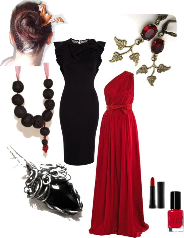 Saturday Style – For a Vampire ball  Hairfork by TheAncientMuse - http://etsy.me/oSZydj  Earrings by ArxRosarum - http://etsy.me/ZYDy9v  Pendant by NurgulaJewellery - http://etsy.me/YSo4Au  Necklace by KVFeltedDesigns - http://etsy.me/Zq17Jg  For more links clil on  Styleboard  - http://polyv.re/ZnWSuu