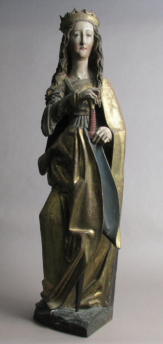 Saint Catherine   15th–16th century   Franconia   German   Limewood with paint and gilding