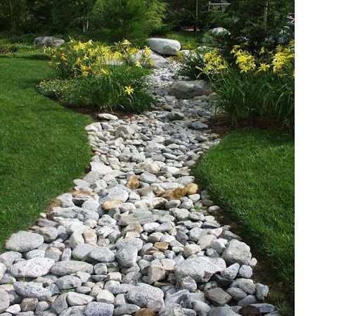 Landscaping With River Rock Dry River Rock Garden Ideas: If They Don't Fix The Lawn