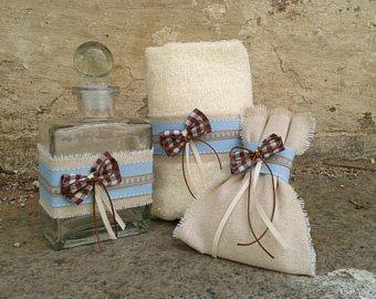 Greek baptism set -Christening oil bottle/soap/towel-Orthodox baptism