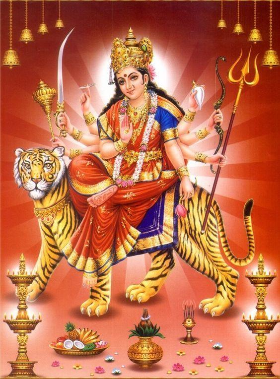 Hindu Goddess Durga A fiercer form of Parvati Vehicle: tiger has ...