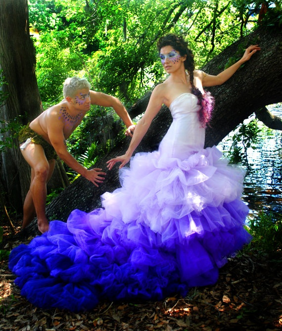 Made To Order Couture Dress Find This Pin And More On Blue Purple Wedding