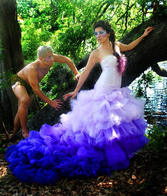 228 best images about Blue & Purple Wedding Dresses on Pinterest