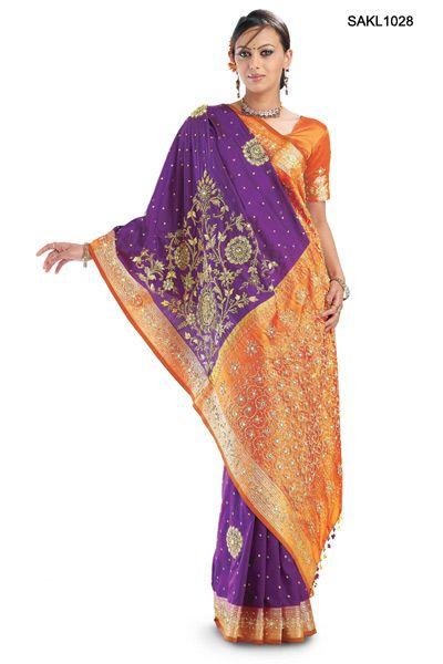 Vibrant South Indian Kanjeevaram Silk Saree with Zardosi Work