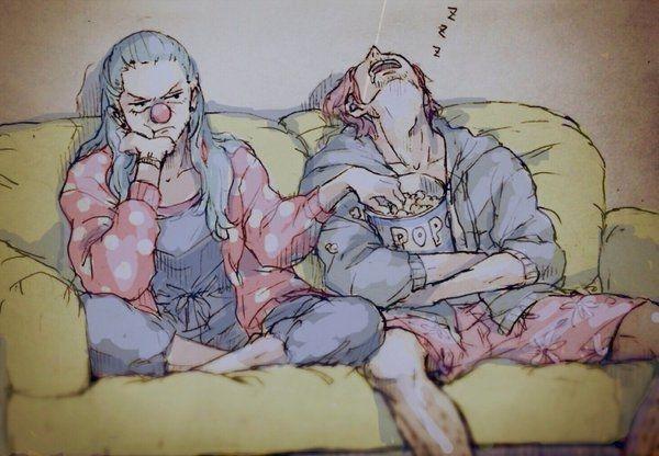 One Piece, Buggy the Clown, Shanks ahahaha i love those two