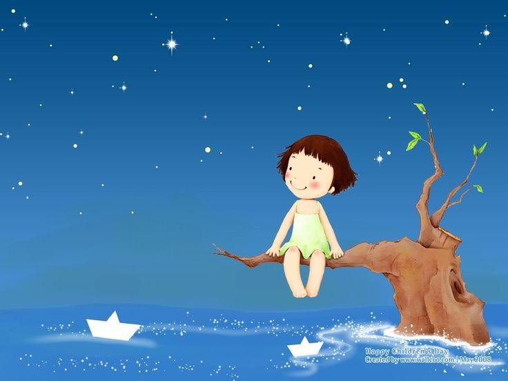 Lovely illustration art for children's Day  1600*1200 NO.4 Wallpaper