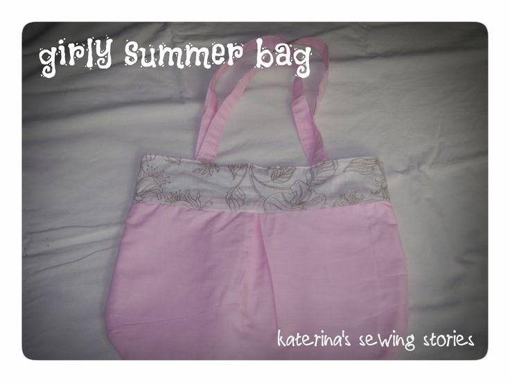 pink light summer bag