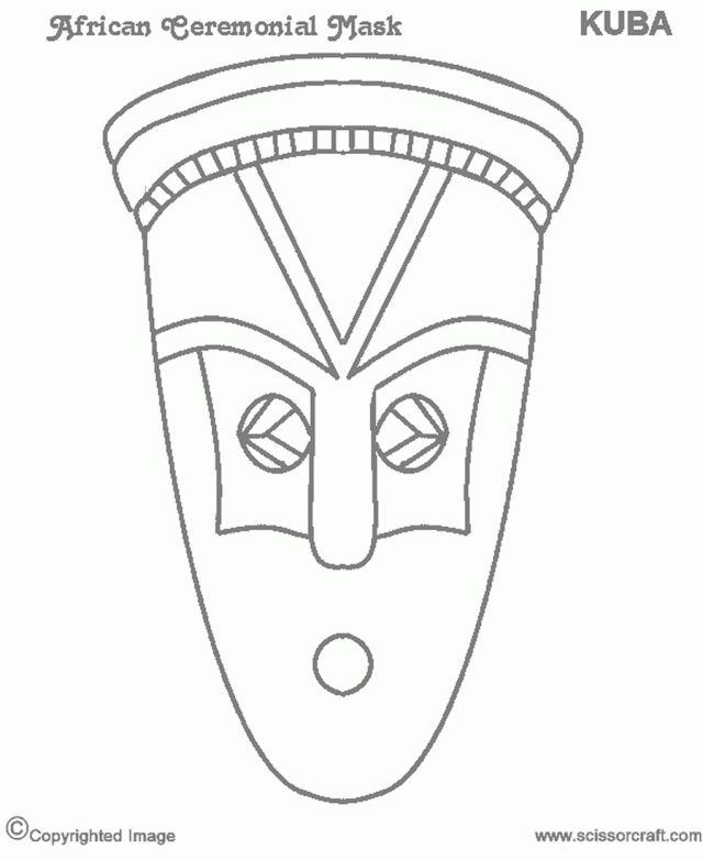 indian tribal masks coloring pages - photo#13