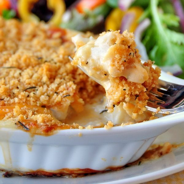 """Cod au Gratin - a real Newfoundland Favourite. Daphne writes, """"I make this dish at least once a week ever since I discovered this recipe last year. It is by far the very best Cod au gratin recipe EVER!!!!! Love it!!"""""""