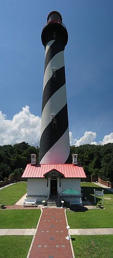 St. Augustine Lighthouse (St. Augustine, Florida) was built in 1874 and has a long history of supposed paranormal activity.