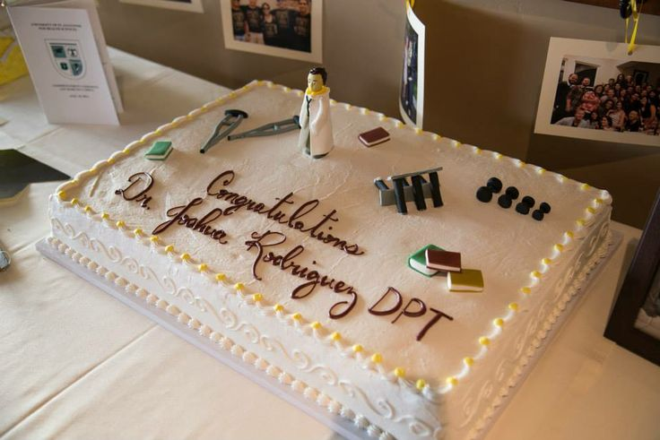 Doctor of Physical Therapy graduation cake