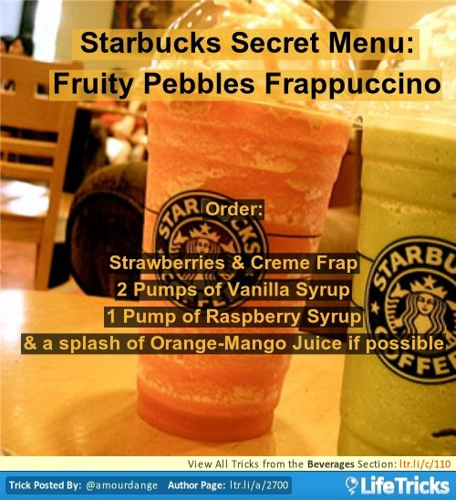 374 best images about frappuccinos on pinterest for Fruity pebbles alcoholic drink