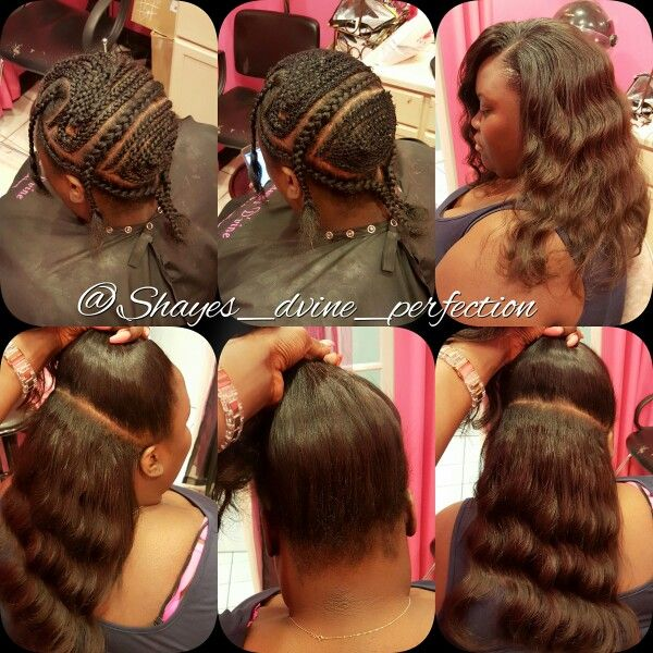 2 Part Vixen Sew In (Half Up Half Down) | Arlington Stylist   IG: Shayes_dvine_perfection FB: Shayes D'vine Perfection Book online at; ➡Www.styleseat.com/shalandawilliams2
