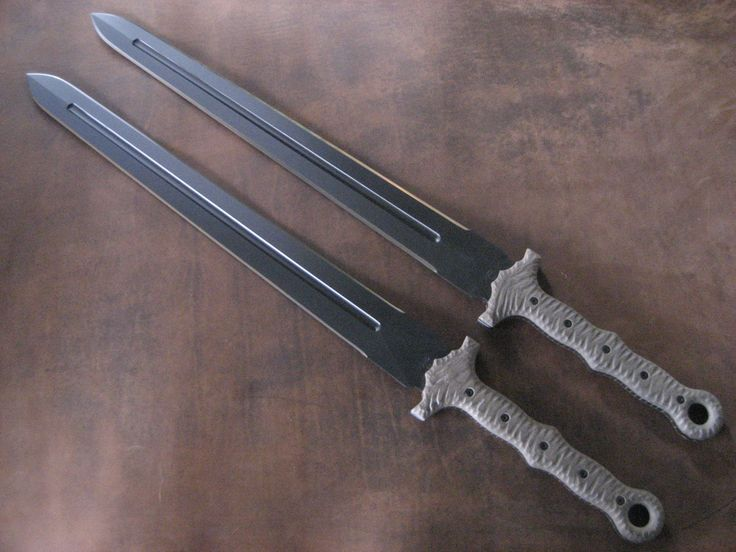 Miller Bros. Blades Set of M-16 Modern Tactical Sword. Custom Handmade Swords, Knives, Tomahawks/Axes & Machetes http://www.millerbrosblades.com/