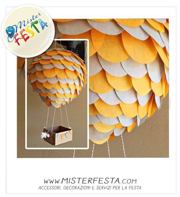 #mongolfiera di palloncini e carta