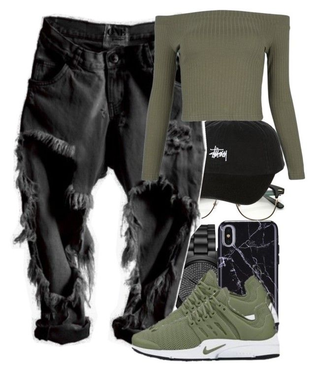 """""""Untitled #5802"""" by rihvnnas ❤ liked on Polyvore featuring Michael Kors, Stussy and WithChic"""