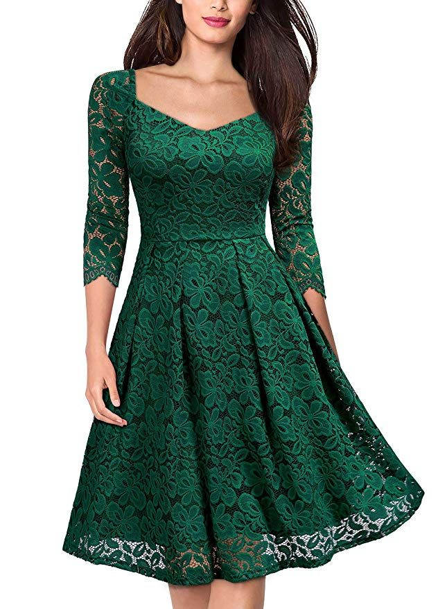 comprar lujo mayor selección diseño hábil Miusol Vintage Encaje Floral Coctel Vestido Corta para Mujer ...