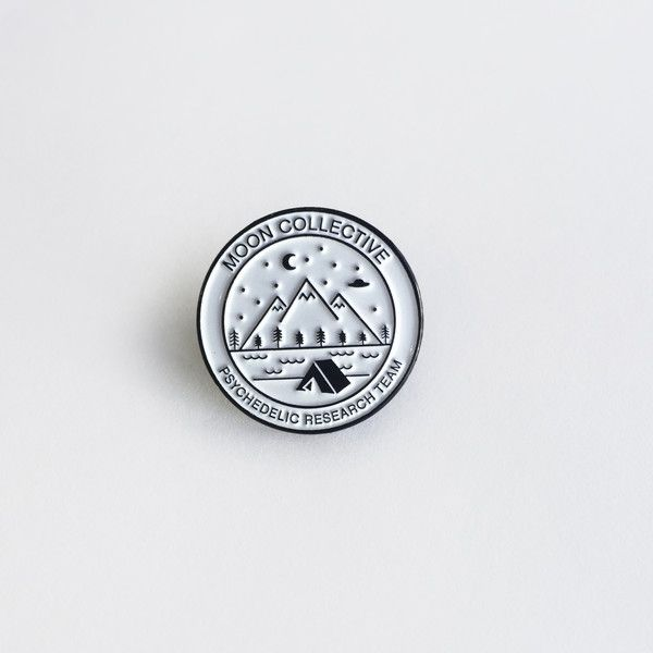 Moon Collective Psychedelic Research Team pin; the moon AND psychedelics?? Sign me the fuck up