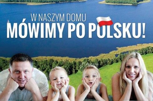 """We would like to remind you that the portal DobraPolskaSzkola.com conducts the social campaign """"We speak Polish at home!"""", which aims to popularise the needs of talking with children in Polish, pay more attention to this issue and improve children's pronunciation."""
