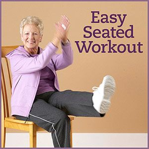 """""""Seated Flexibility, Cardio, and Strength Workout -- Physical activity is important when you have diabetes. Diabetic foot pain or flexibility problems don't need to keep you from exercising. Grab a chair and take a seat for these simple stretches, low-impact strength exercises, and cardio moves."""""""