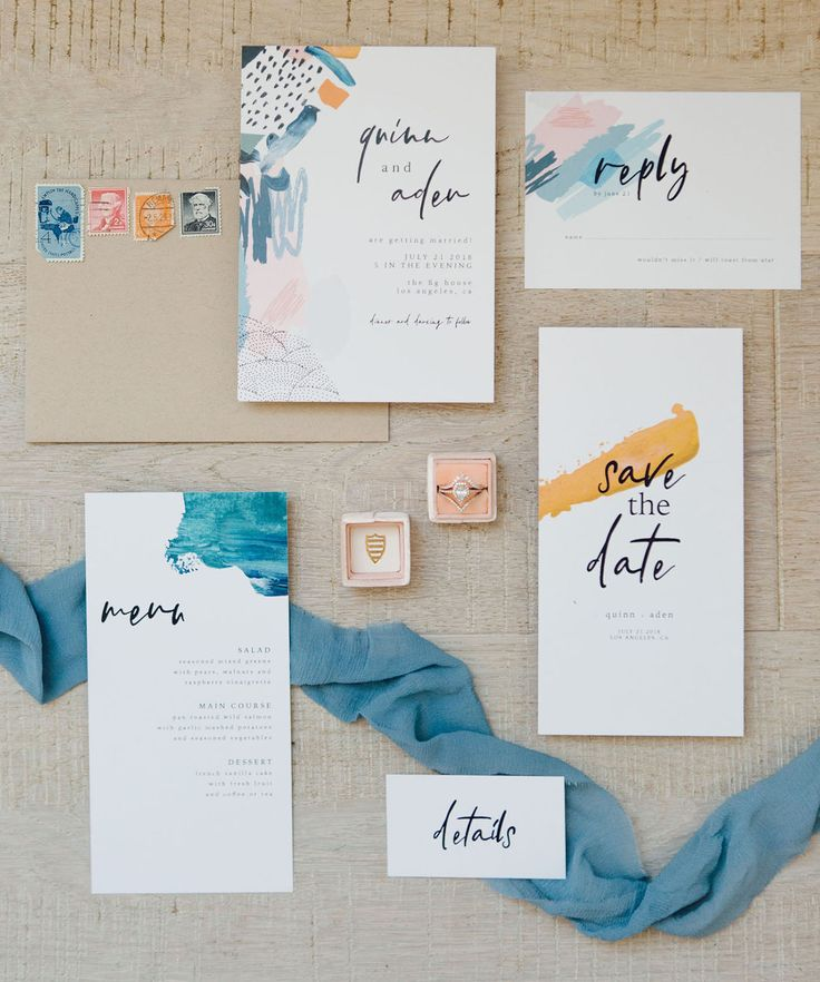 Picasso Meets Monet: Artistic + Minimalistic Loft Wedding Inspiration
