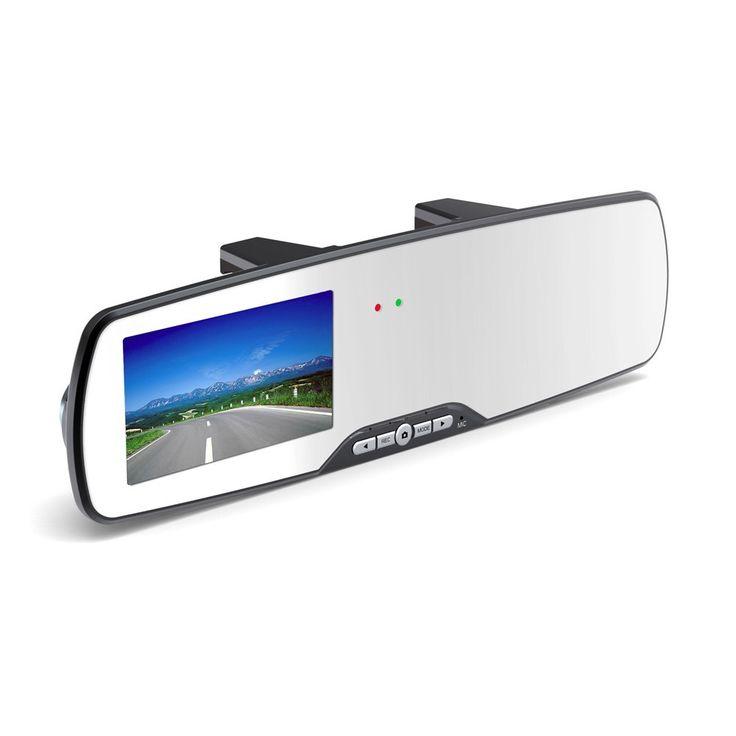 Rear View Mirror Digital Video Car Recorder HD 1080P G-sensor - 701A - Black Model  OMCA0LBK Condition  New  Car DVR termurah hanya di Gudang Gadget Murah. Car camcoder dengan bentuk kaca spion ini Anda dapat merekam setiap perjalanan Anda. Dengan resolusi rekaman mencapai 1080p. Bagian depan terdapat layar kaca spion dan pada bagian samping terdapat layar monitor untuk menampilkan hasil rekaman - Black