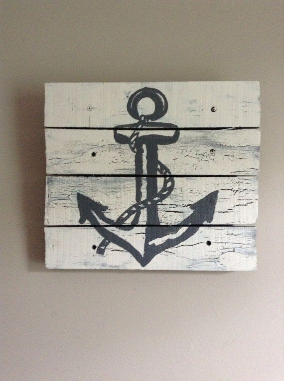Wooden Anchor Wall Decor 102 best beach art images on pinterest | shells, beach crafts and
