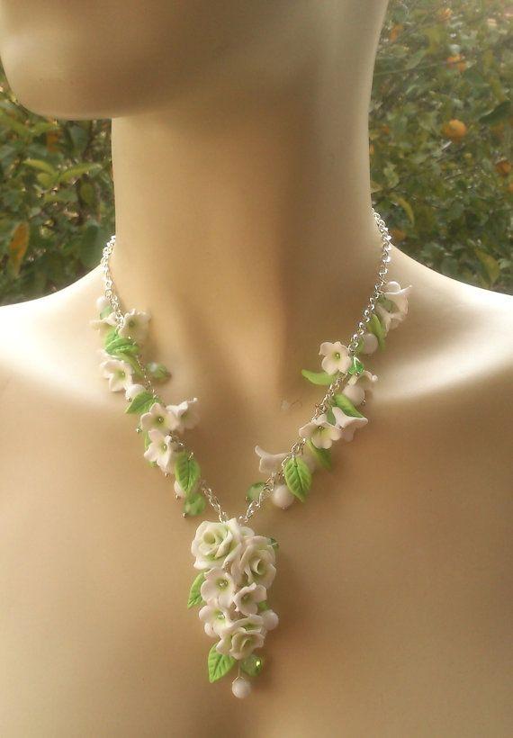 Light green jewelry Spring jewelry Polymer by insoujewelry