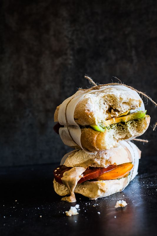 Heirloom Tomato Caprese with Balsamic Aioli {Thyme to Eat}