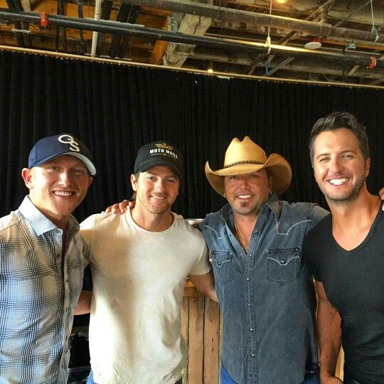 Cole Swindell, Kip Moore, Jason Aldean, and Luke Bryan!!!! Seeing Cole and Jason in concert on Saturday along with Kenny Chesney and Brantley Gilbert