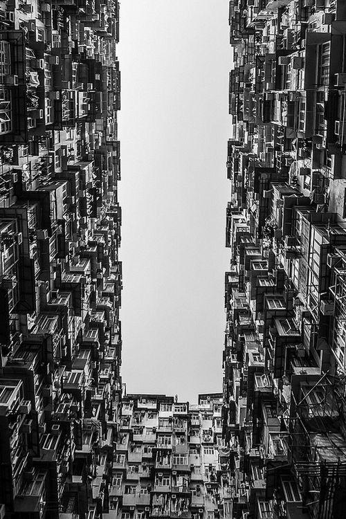 Black and White colors of Hong Kong