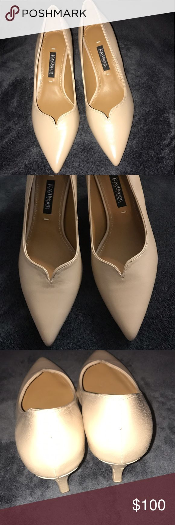 Beautiful Nude Kay Unger size 6.5 like new Beautiful Nude Kay Unger size 6.5 like new- worn 1x for a couple hours- leather and inside is like new! Retails for 295$ on Lord and Taylor Kay Unger Shoes Heels