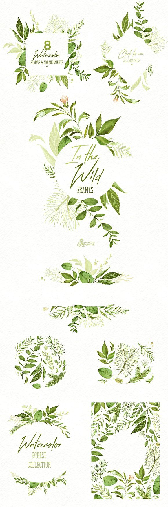 In the Wild. Forest Collection by OctopusArtis on @creativemarket