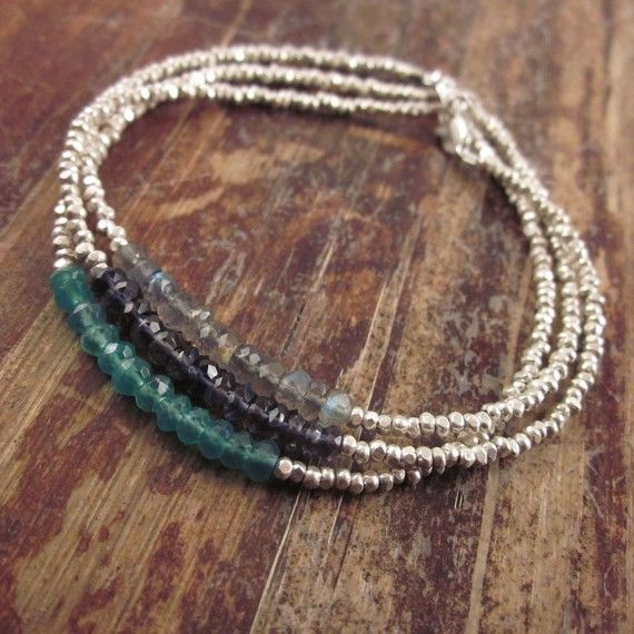 Green Aventurine Bracelet with Karen Hill Tribe by TwoFeathersNY