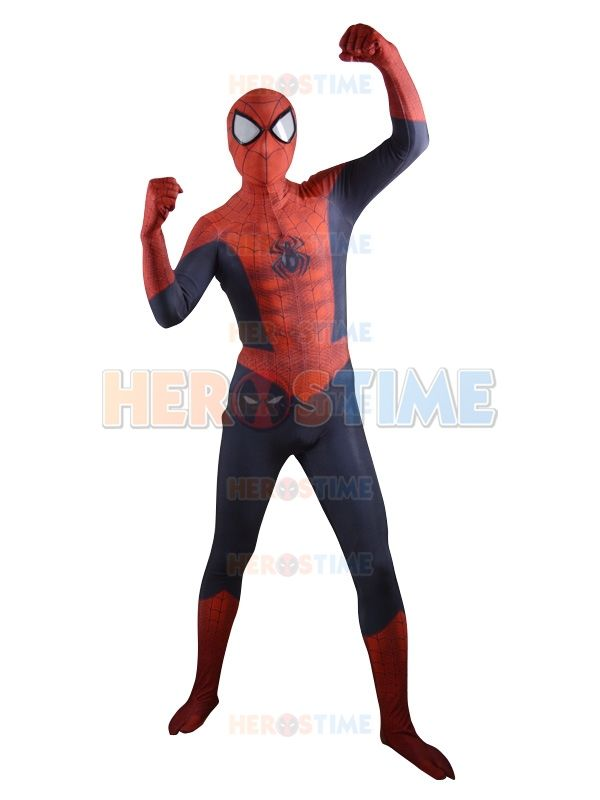 2015 New Ultimate Spider-Man Superhero Costume 3D Pattern fullbody spandex halloween spiderman costume hot sale free shipping