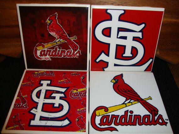 Saint Louis Cardinals Coasters set of 4 by KTsCoasterBoutique