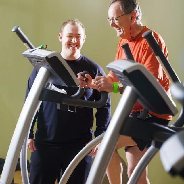 Change the arc trainer's incline to add variety to your exercise.