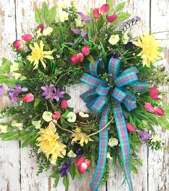 Spring Door Wreaths For Sale,  Artificial Wreaths For Outdoors, https://www.etsy.com/listing/523871075/spring-door-wreaths-for-sale-artificial