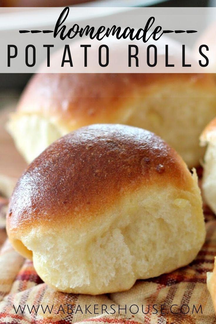 Easy Potato Rolls In 2020 Mashed Potato Rolls Recipe Potato Roll Bread Recipes Homemade