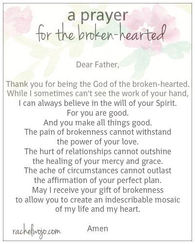 A Prayer for the Broken-HeartedRachel Wojo