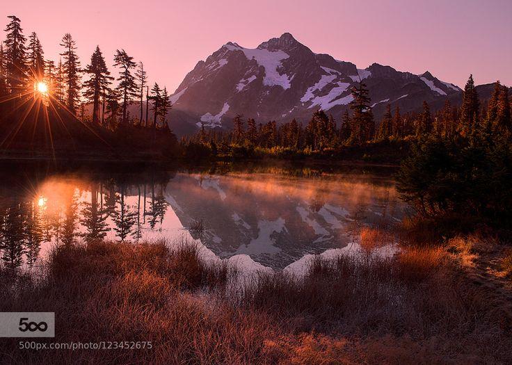 Picture Lake Sunrise by crazyaboutnature