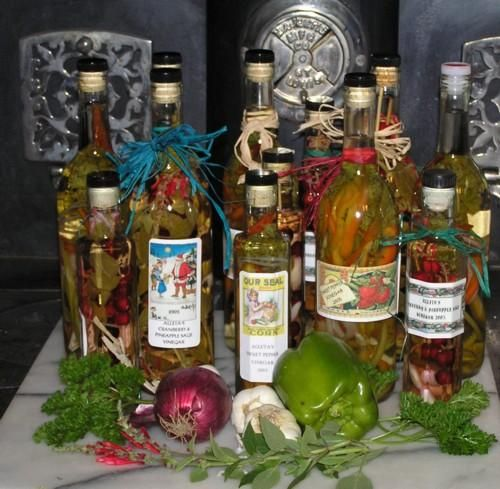 The following are the guidelines that i have perfected over the last 18 years of teaching and making herb-flavored vinegar.
