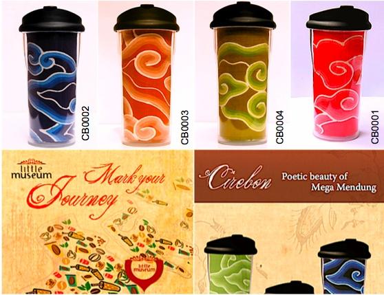 Poetic beauty of real batik fabric Mega Mendung from Cirebon - Indonesia on the tube of quality tumbler!