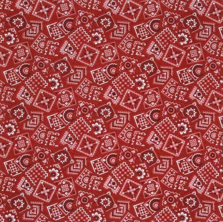 "Red Bandana print Bandana 100% Cotton B94-5 New Handmade 21"" X 21"" #NewHandmade #Bandana"